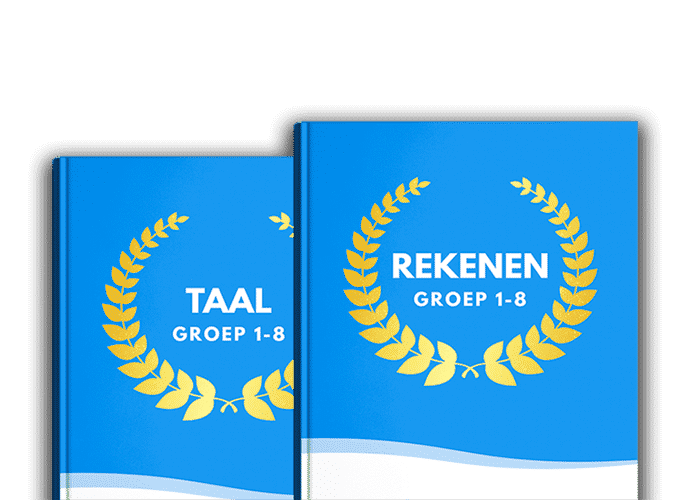 productafbeelding van onze oefenboeken voor groep 3 tot en met 8